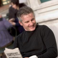 David J Cummins Coffee and Newspaper