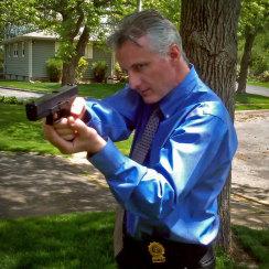 David J Cummins Gun Drawn Detective